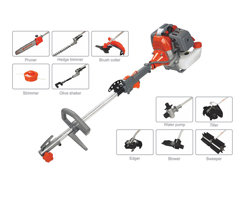4 In 1 Multi-functional Brush Cutter 52cc 43cc 26cc Gasoline Multi Garden Tools 2600 SERIES